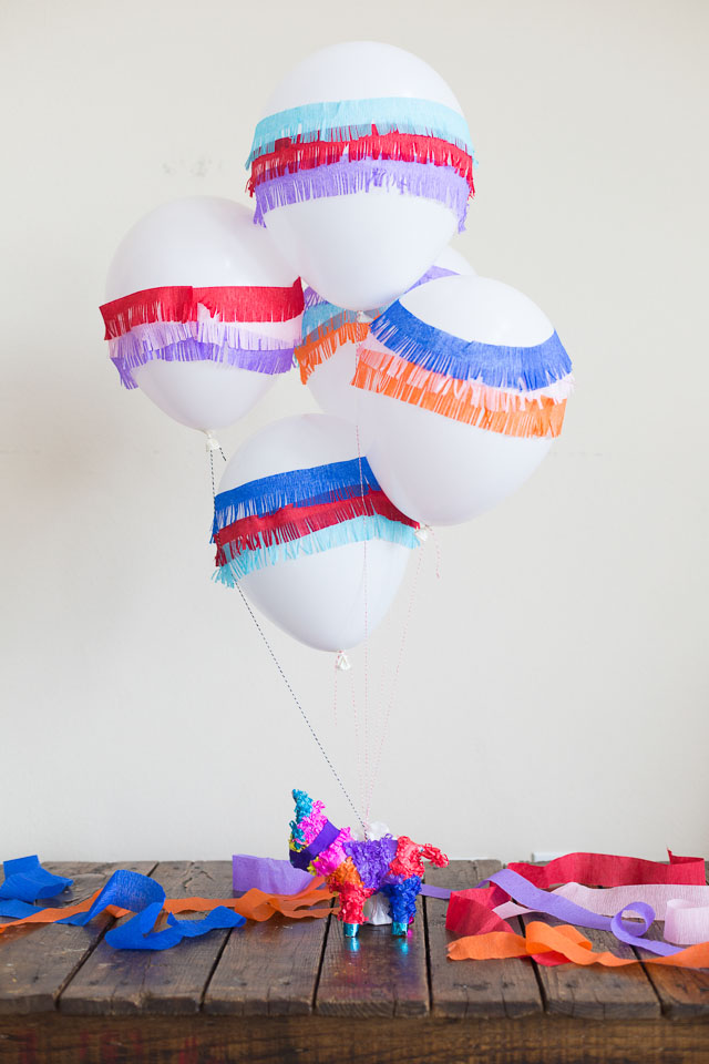 How to make DIY piñata balloons
