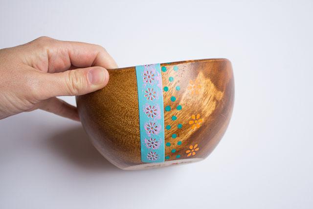 Thrifty Diy Painted Wood Bowls Design Improvised