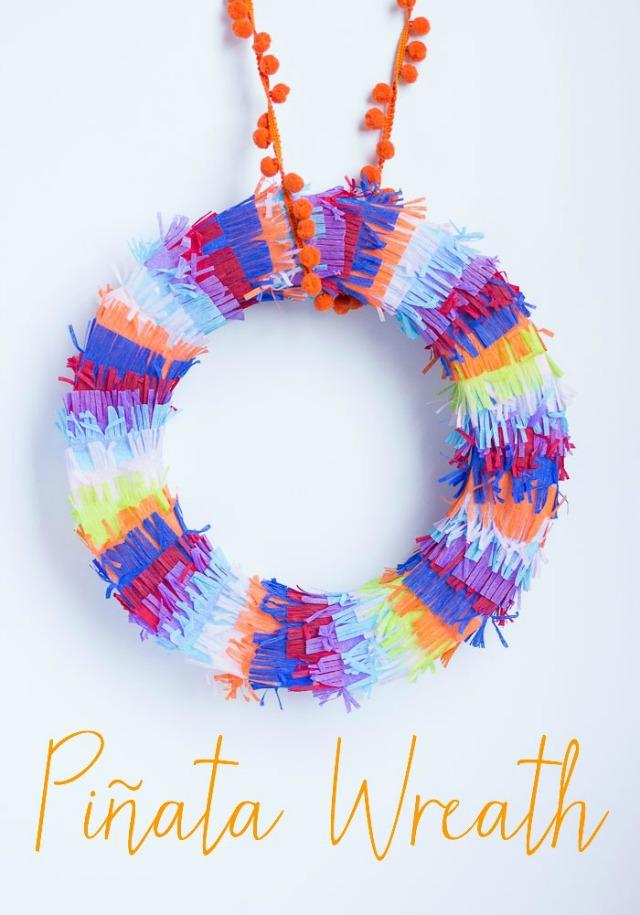 How to make a pinata wreath