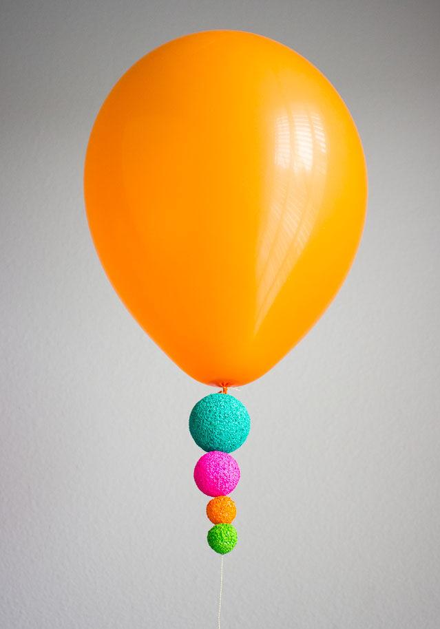 Easy colorful balloon idea
