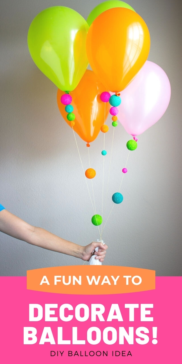 DIY Balloons Decorated with Foam Balls