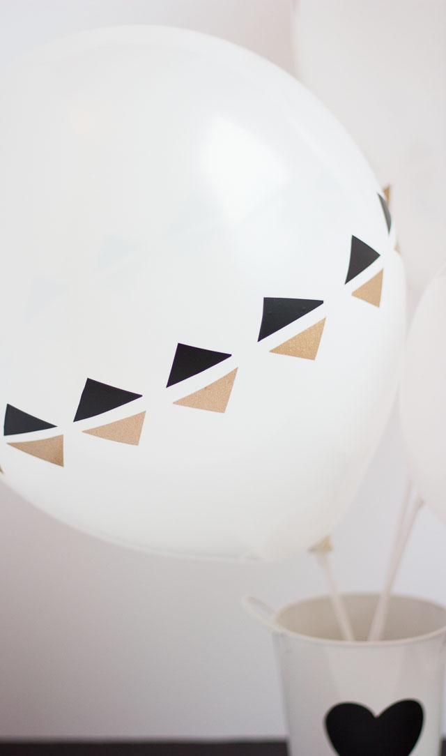 vinyl decorated balloons