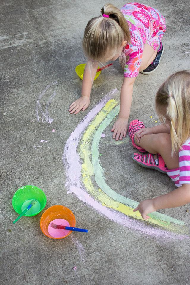 homemade sidewalk paint recipe