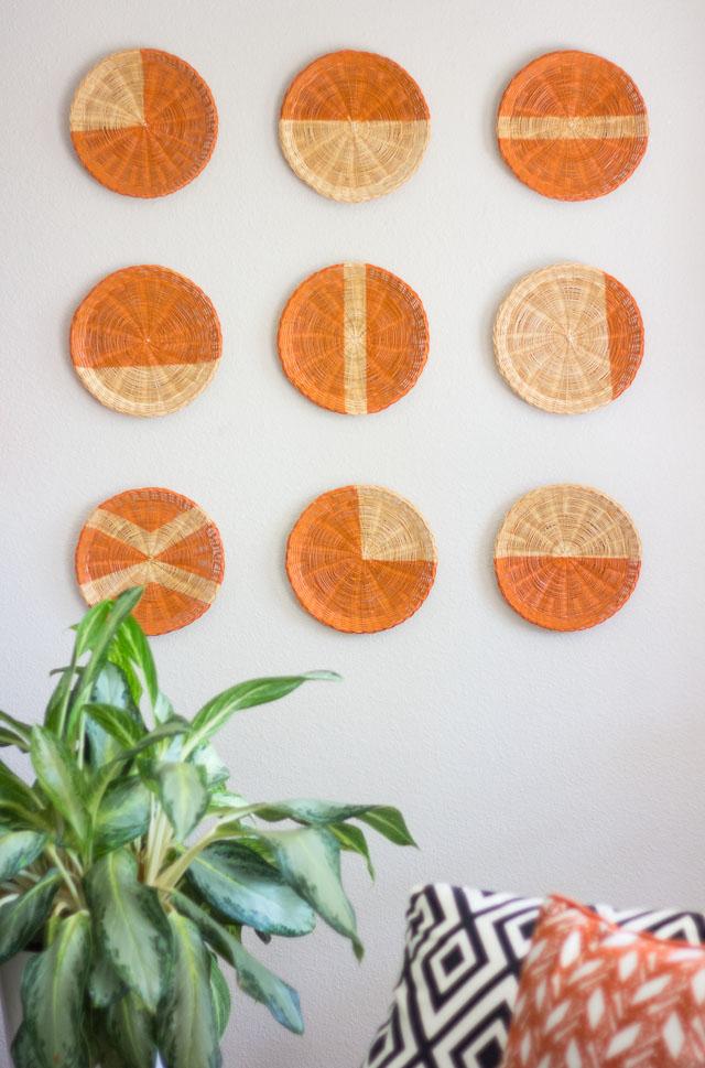 modern basket wall art
