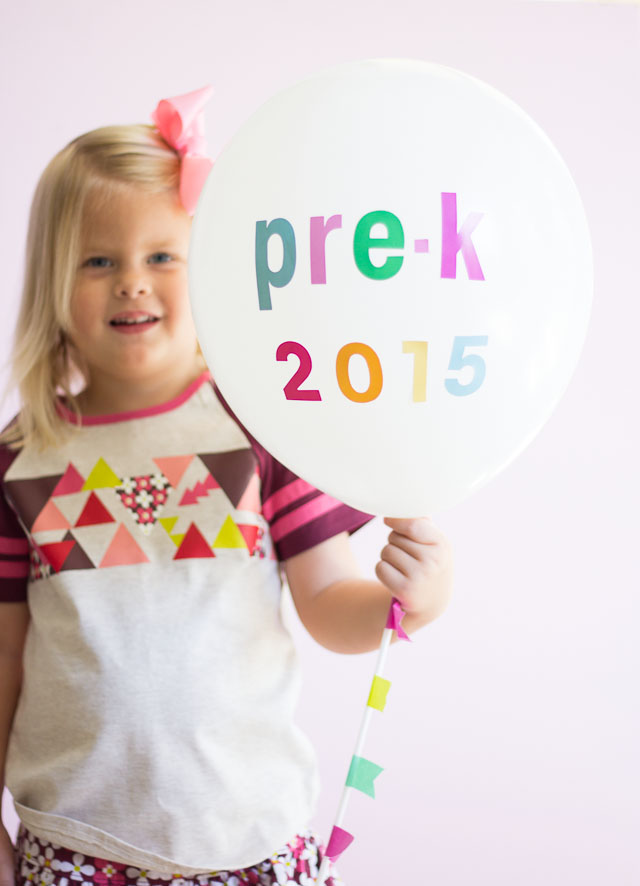 Make First Day of School Balloons