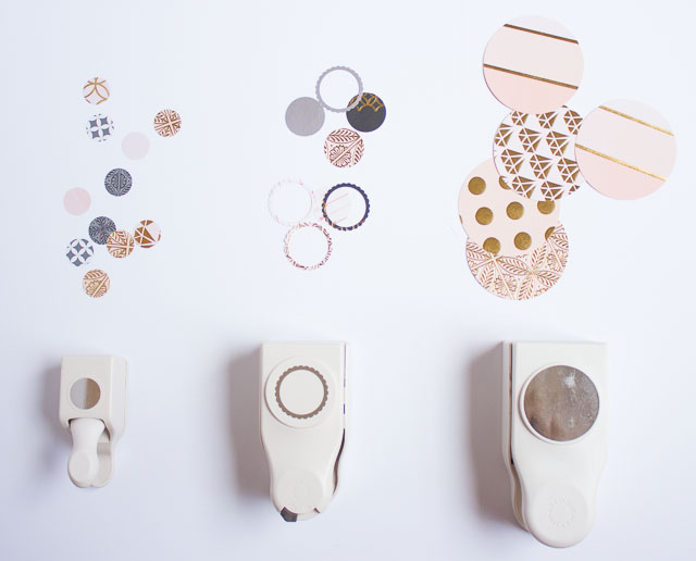 Make your own wall art in minutes with canvas, cardstock, and a paper punch!