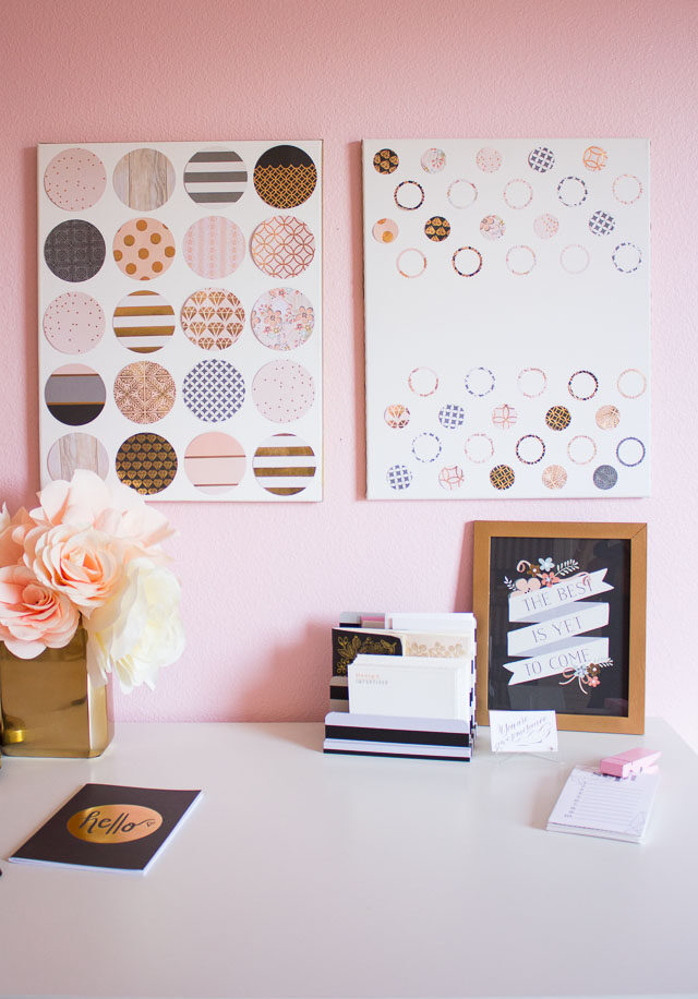 How to Make Paper Punch Wall Art