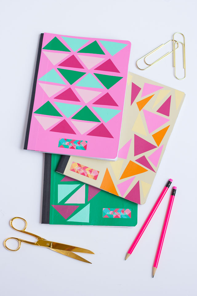 How to Decorate Notebooks with Vinyl