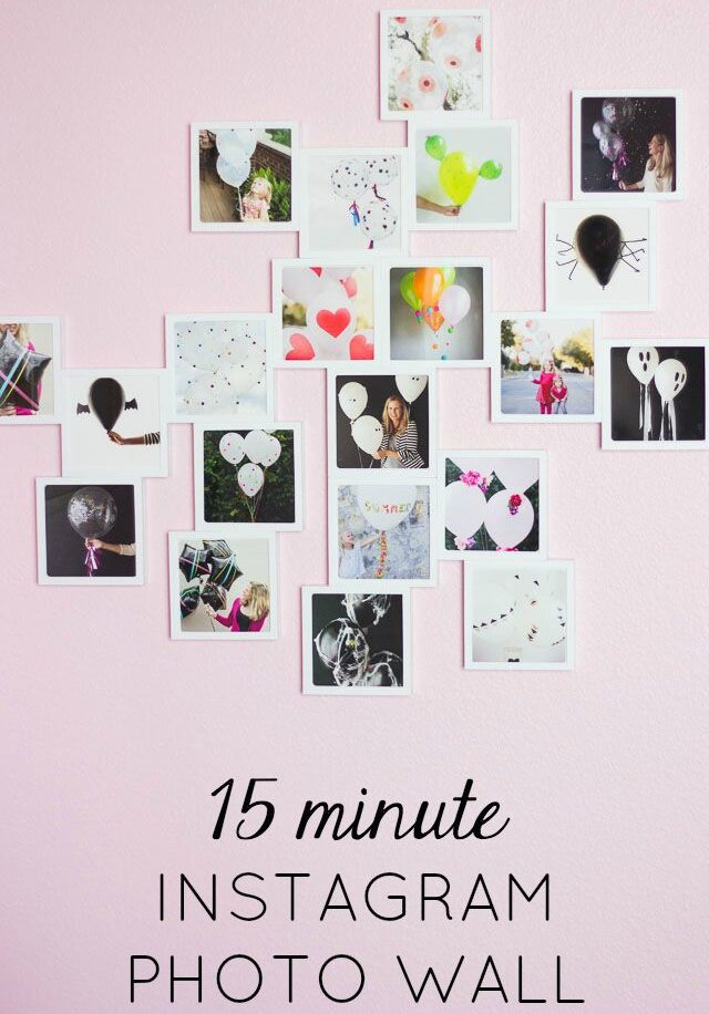 The EASIEST Instagram Photo Wall Ever!