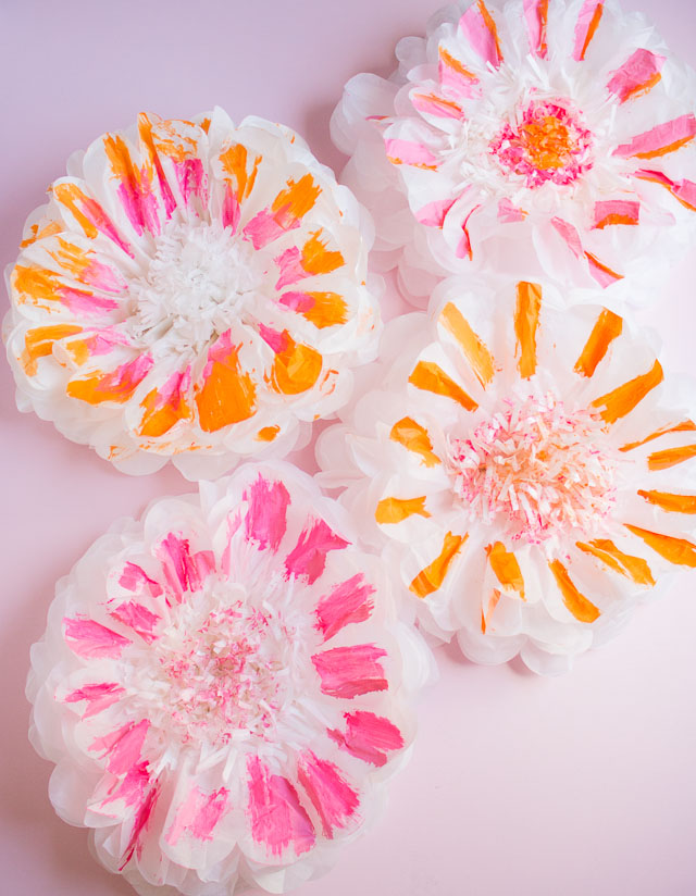 DIY Painted Flower Pom-Poms