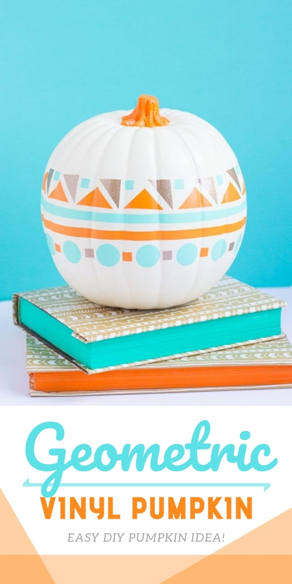 DIY Vinyl Geometric Pumpkin