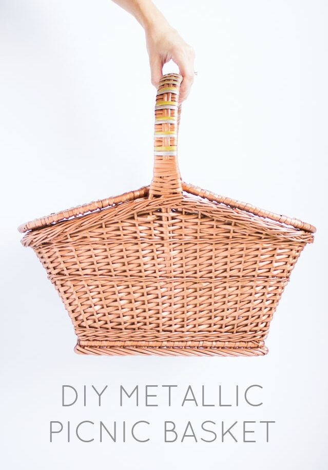 Metallic painted basket