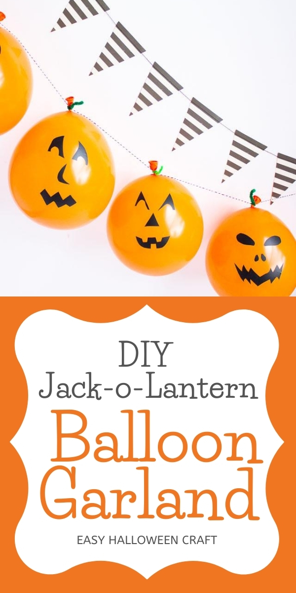 Easy DIY Jack-o-Lantern Balloon Garland