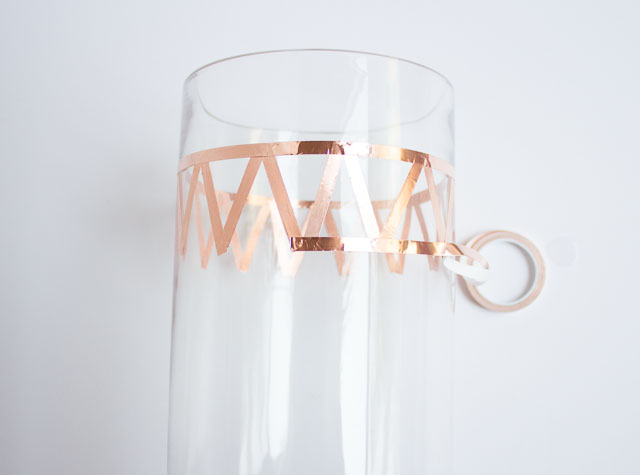 Decorate a vase with copper foil tape!