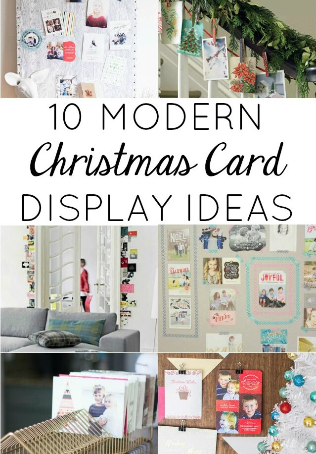 10 modern christmas card holder ideas