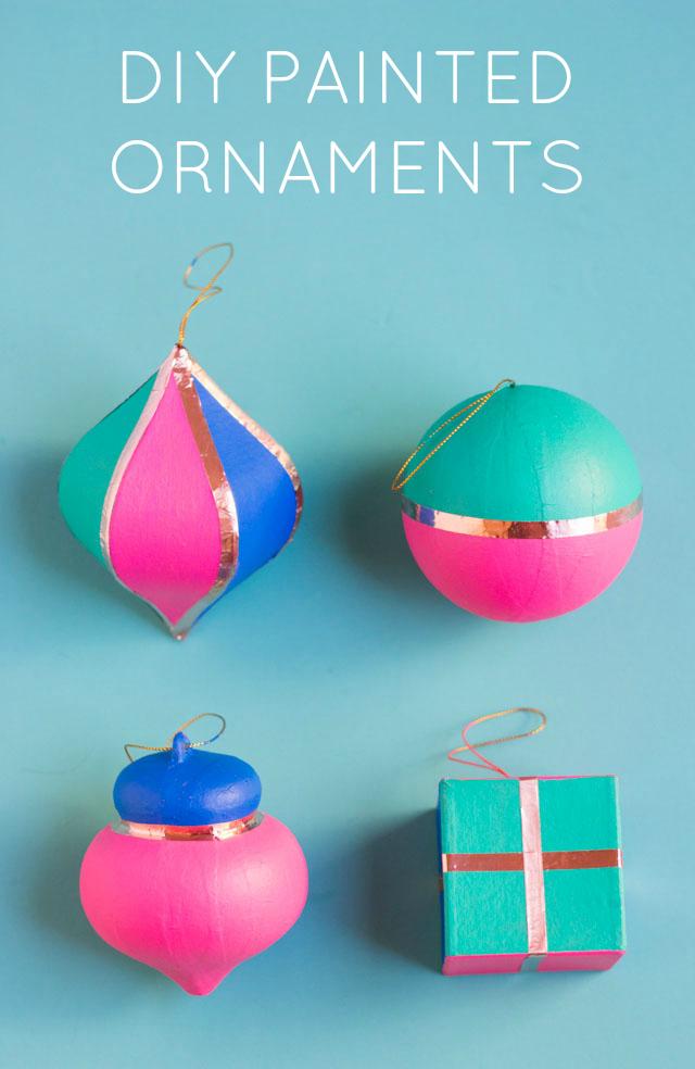 Paper Mache Christmas Ornament.Diy Painted Christmas Ornaments Design Improvised