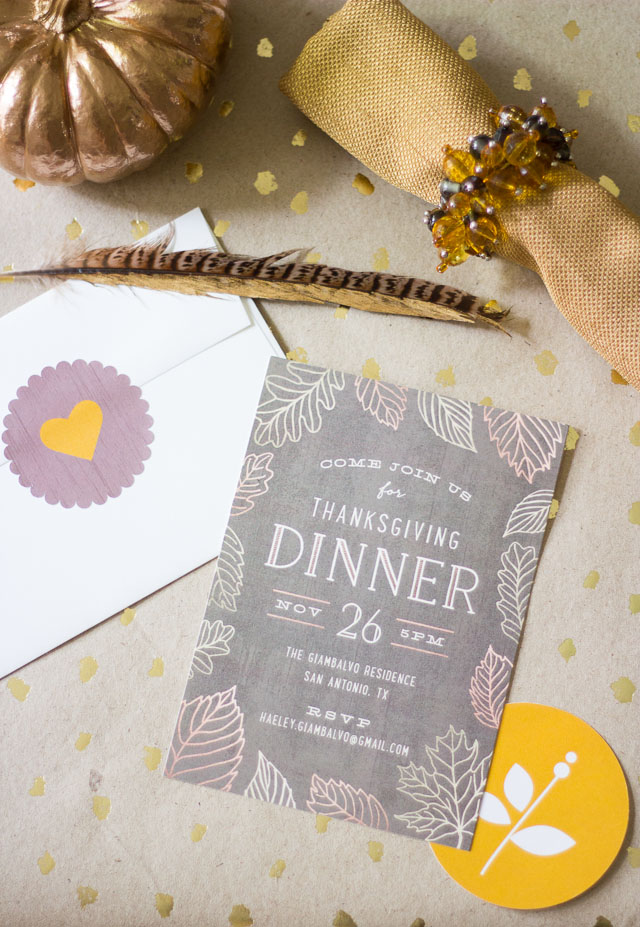 Thanksgiving dinner invitation from Minted