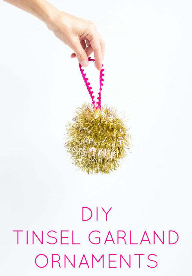 How to make tinsel garland christmas ornaments