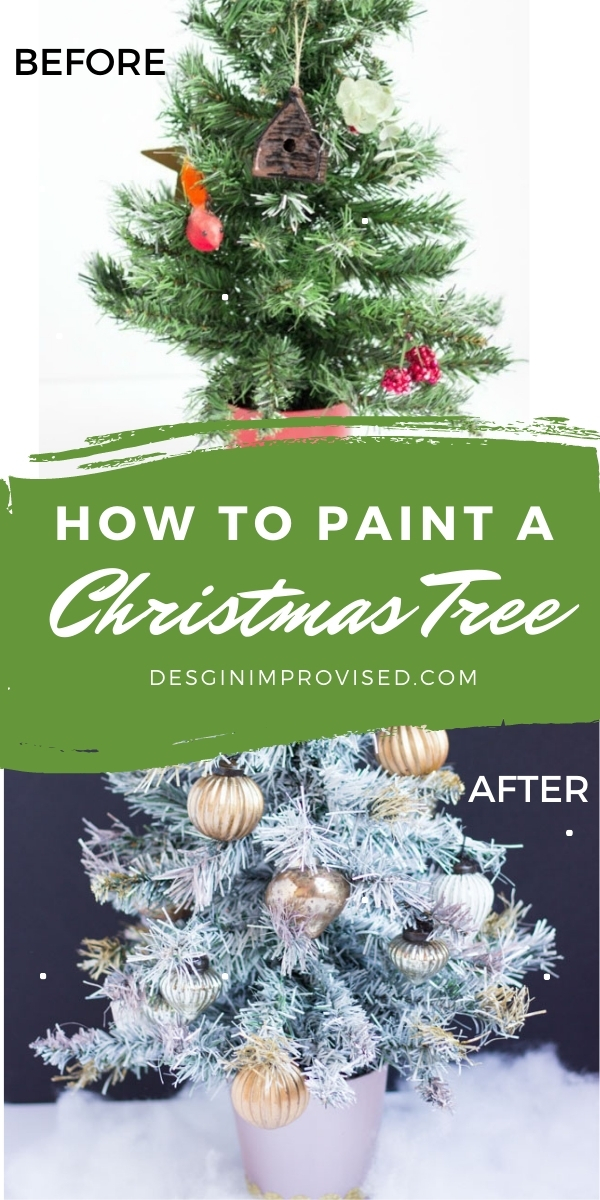 How to spray paint a Christmas tree