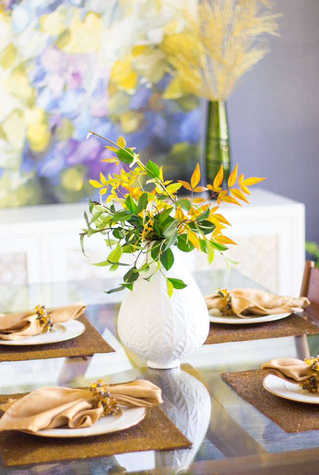 Modern mid-century dining room makeover