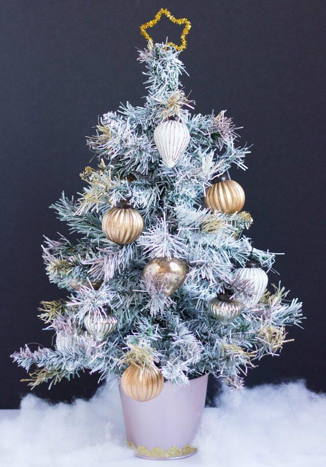 Spray painted Christmas tree