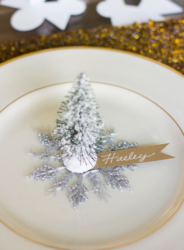 bottlebrush tree placecards