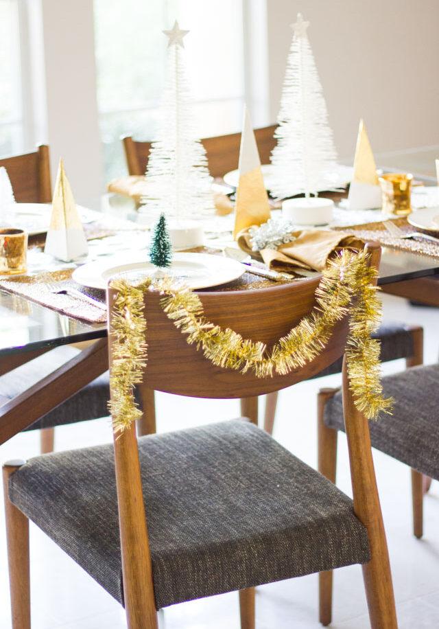 Winter wonderland christmas table setting