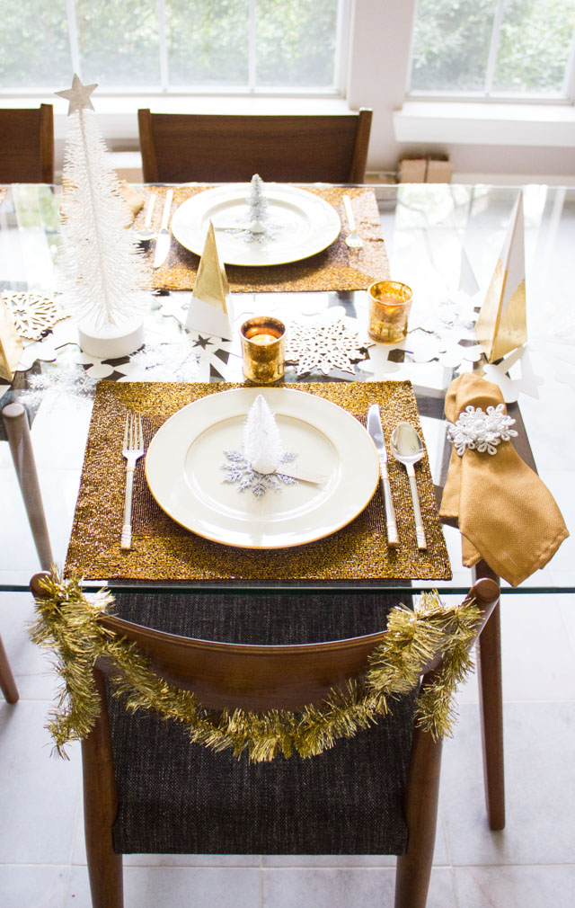 Winter wonderland Christmas table setting