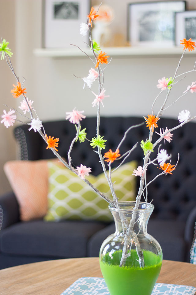 Paper flowering spring branches