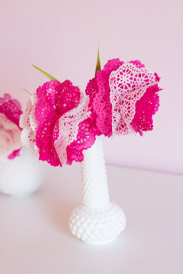 DIY Paper Doily Flowers
