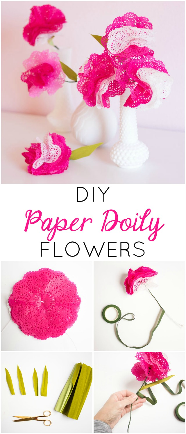 How to make paper doily flowers