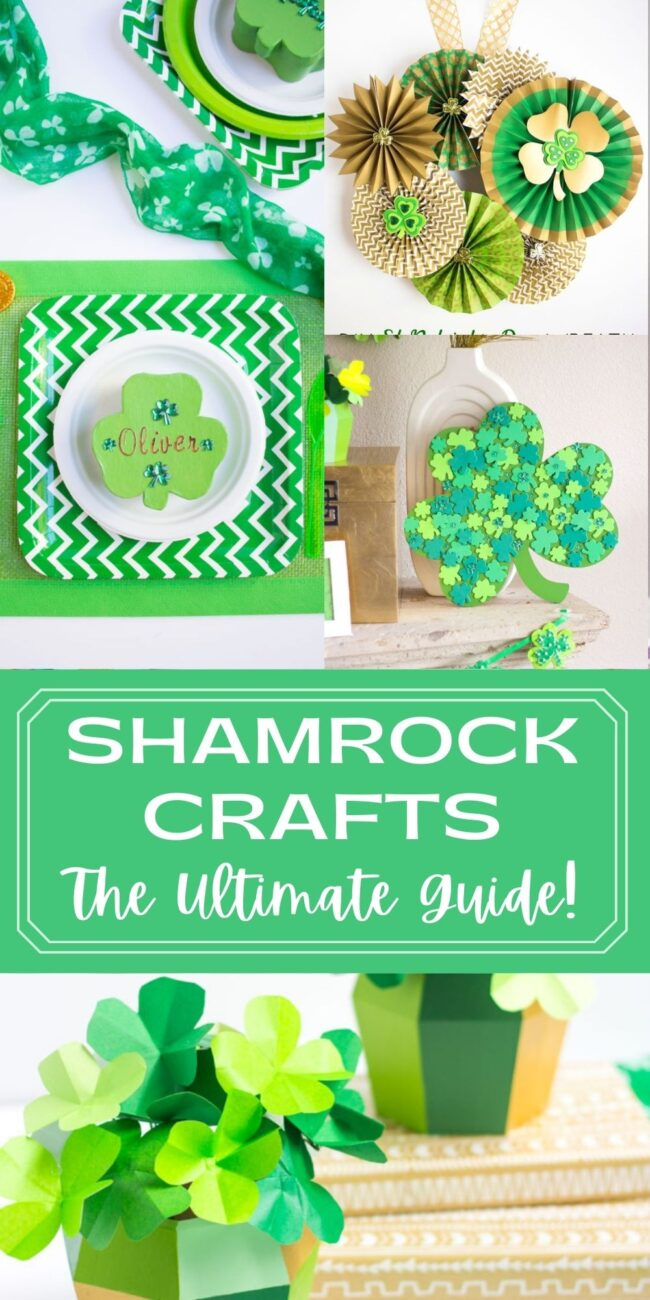 Shamrock craft ideas for kids and adults