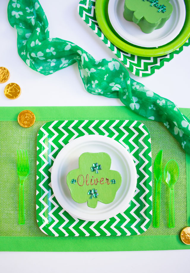 St. Patrick's Day DIY Shamrock Party Favors