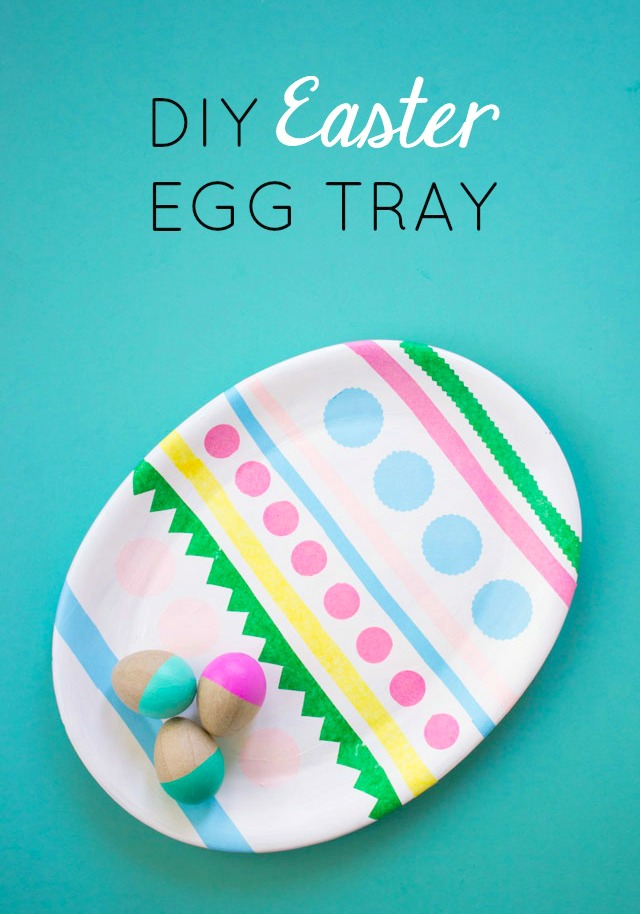 DIY Easter Egg Tray or Platter