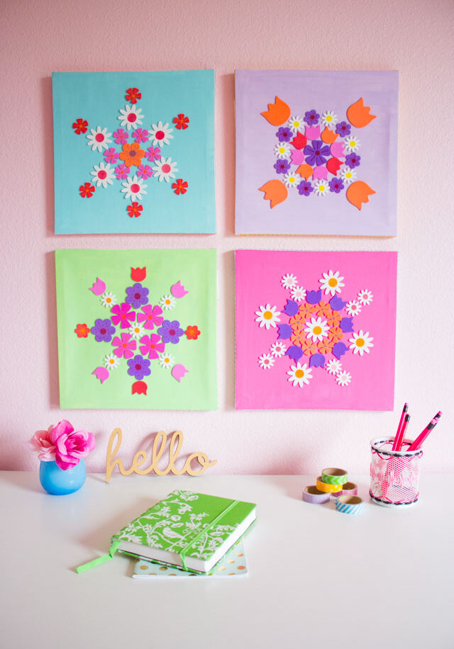 DIY Flower Sticker Art
