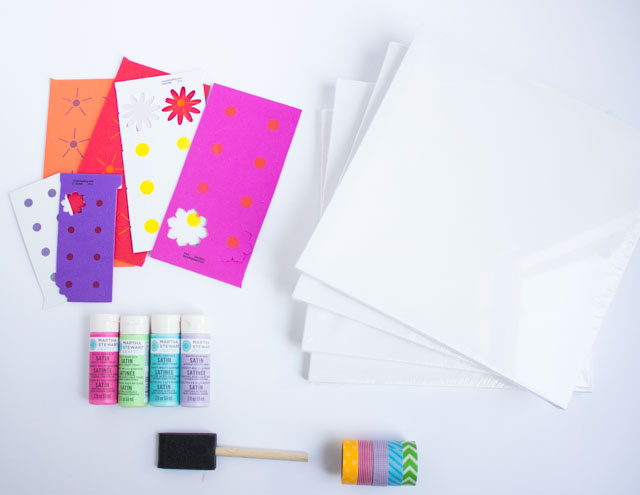 How to make wall art with flower stickers!
