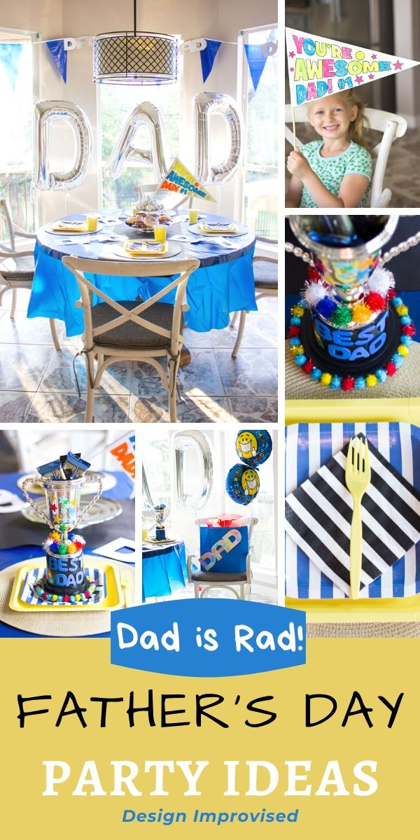 Dad is Rad Father's Day Party Ideas