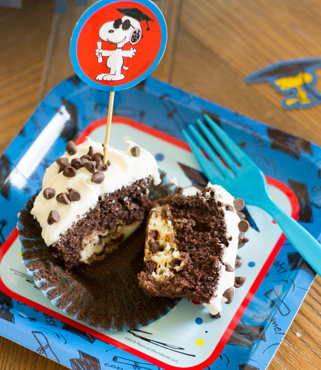 Chocolate chip surprise cupcake recipe - yum!