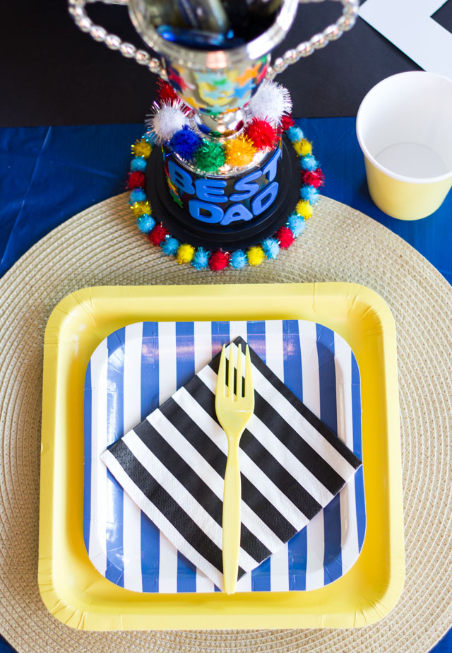 A colorful Dad is Rad party for Father's Day!