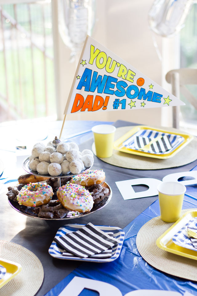 Dad is Rad Father's Day Party Ideas #dadisrad #fathersdayparty #fathersdaycrafts