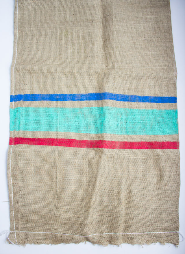DIY painted burlap potato sack