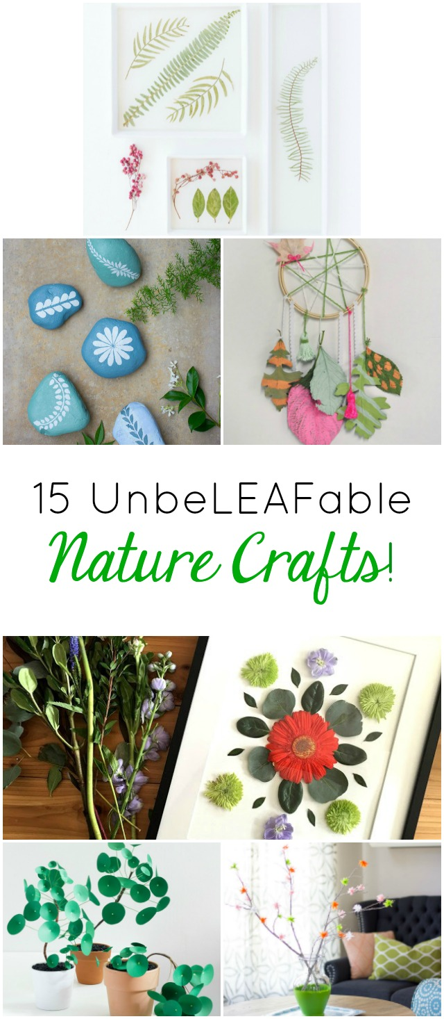 15 Nature Crafts to Try this Summer!