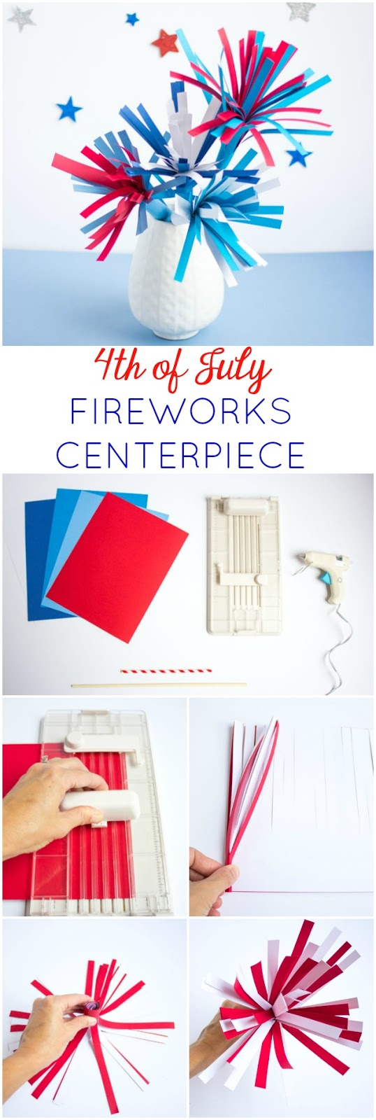 DIY Paper Fireworks Centerpiece - Design Improvised