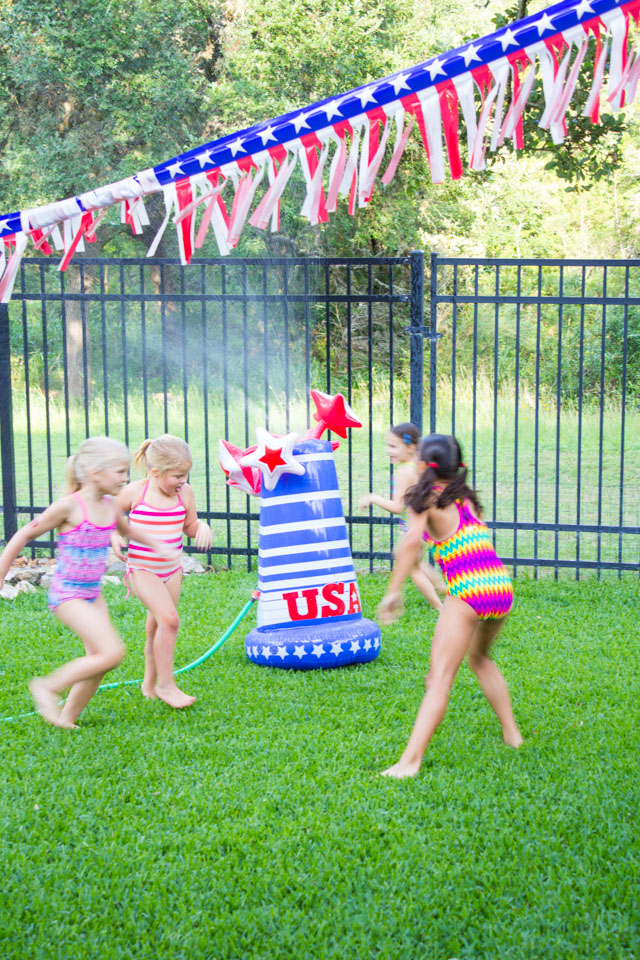 4th of July sprinkler fun