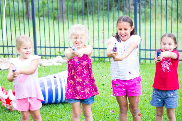 Patriotic confetti poppers - a kid-friendly alternative to fireworks