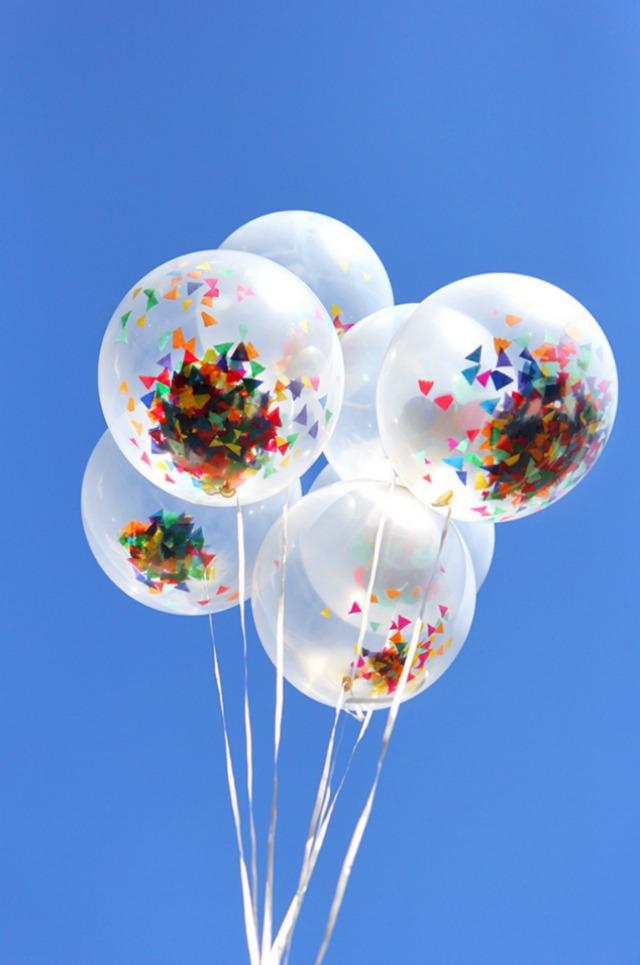 Confetti balloons!