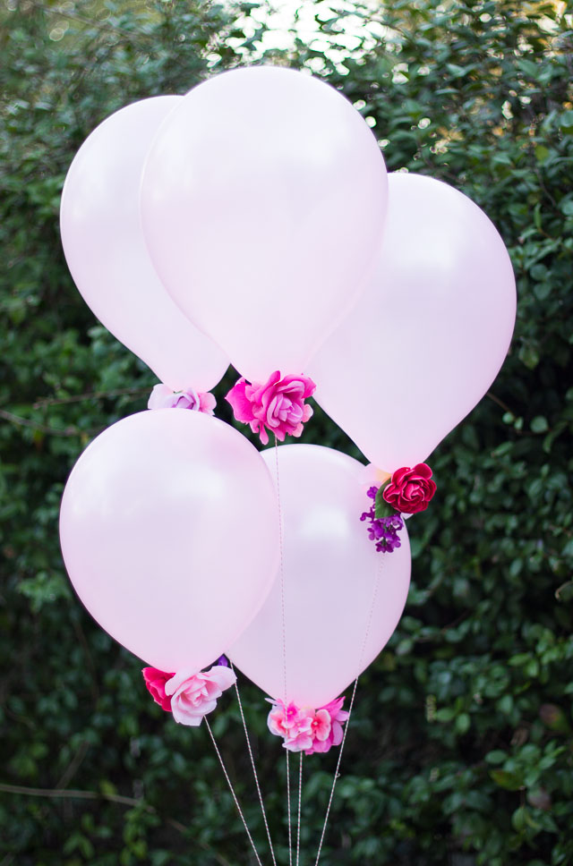 DIY Flower Balloons!