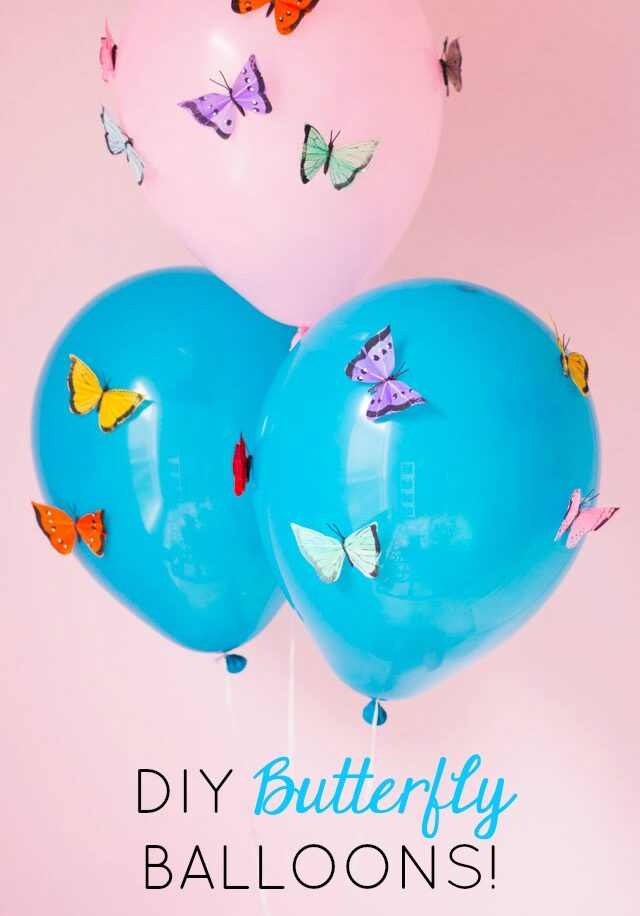 The Prettiest DIY Butterfly Balloons!