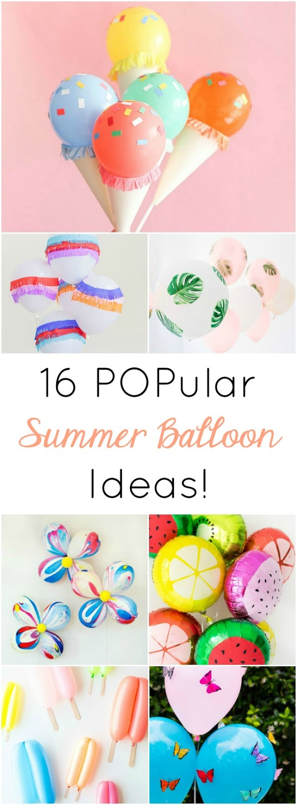 These colorful balloon crafts will really POP at a summer birthday party, ice cream social, or pool party!