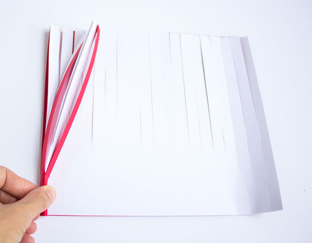 How to make paper fireworks from fringed card stock